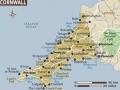 Cornwall - mapa