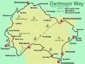 Prírodná rezervácia Dartmoor - mapa