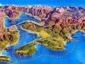Boka Kotorska - mapa