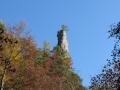 Lačnovská tiesňava - skalný útvar Kamenná Baba