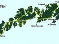 Lofotské ostrovy - mapa
