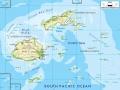 mapa súostrovia Fidži