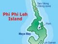 Koh Phi Phi Leh - mapa