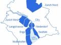 Zürich - mapa