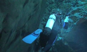 Devils Hole Diver Underwater