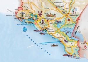 Sveti Stefan, mapa