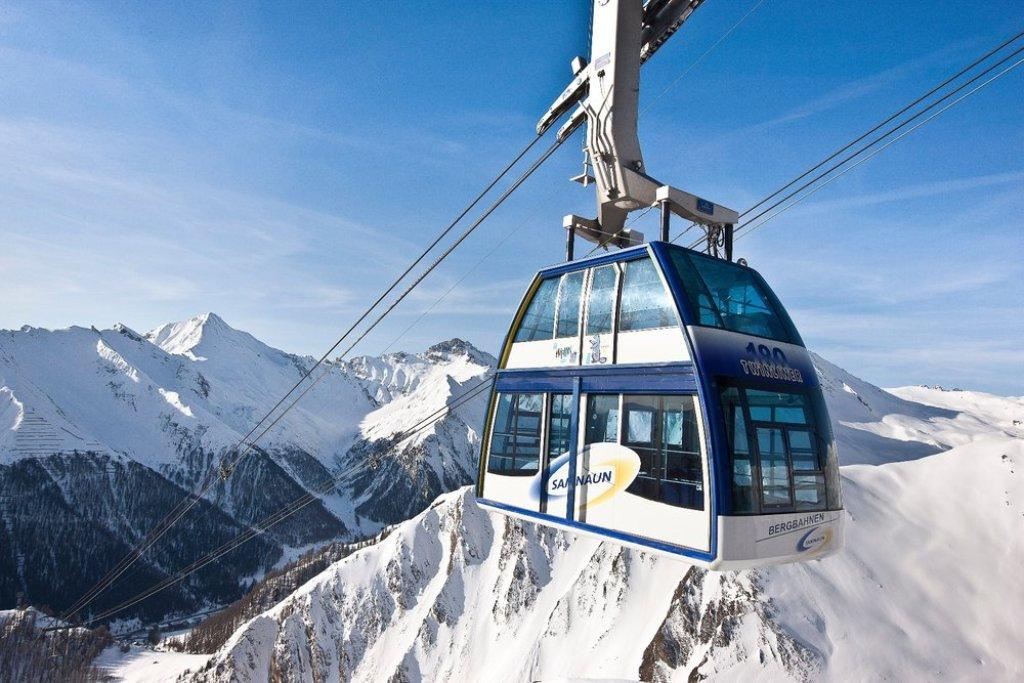Ischgl - dvojposchodová gondola