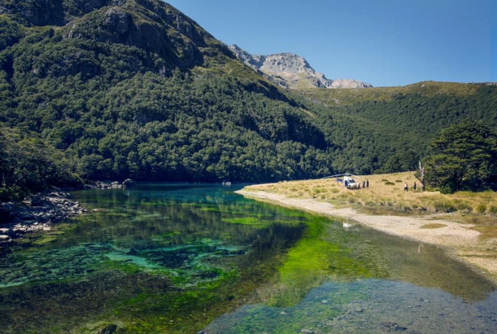 Nelson Lakes National Park_Modré jazero
